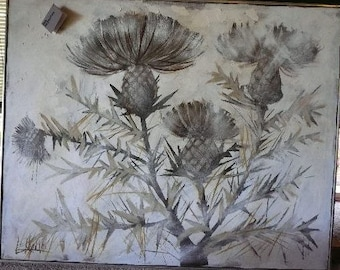 "Lee Reynolds painting ""Thistles"""