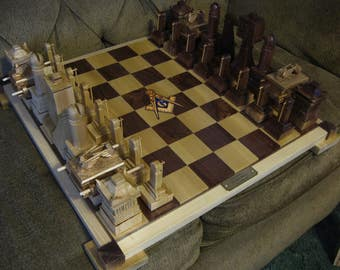 Masonic Chess Set II