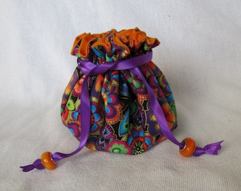 Jewelry Pouch - Medium Size - Traveling Jewelry Tote - Drawstring Bag - LOLLYPOP LOLLYPOP