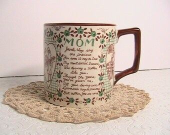 Cup, Coffee Cup, Tea Cup, Mothers Day Poem Cup, Ceramic Coffee Cup, Mother