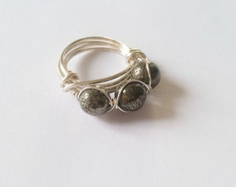 Pyrite Wire Wrapped Ring