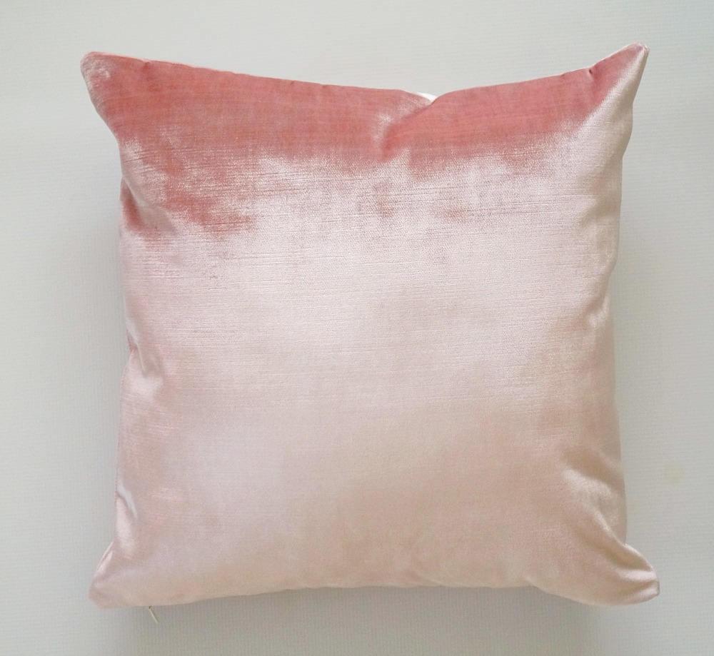 Pink Velvet Pillow Cover blush pink throw pillow pink velvet