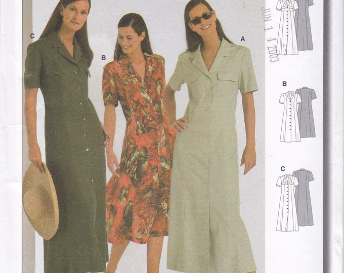 FREE US SHIP Sewing Pattern Burda 3222 Size 10 12 14 16 18 20 Bust 32 34 36 38 40 42 Plus Uncut Princess Seams Shirtdress Dress