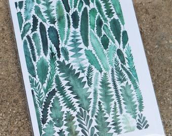 Banksia Leaves Card