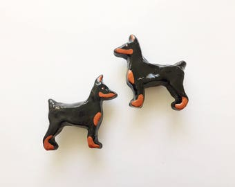 Doberman Pinscher Dog Drawer Knob