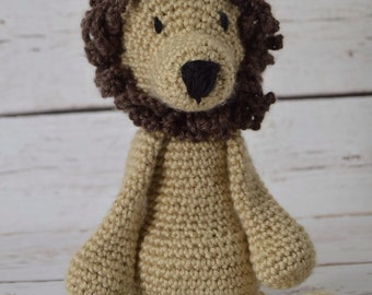 Crochet lion, crochet toy, stuffed animal, baby lovey, baby toy, lion, toy lion