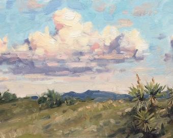 Desert Landscape 6x12 Oil Painting