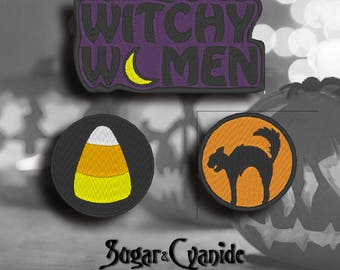 Halloween Patches- Scardy Cat, Witchy Women