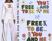"""Marlo Thomas """"Free to Be You and Me"""" Iron-On Transfer! Vintage 1970s McCall's Carefree Patterns 4815, One Size, Never Used, New Old Stock"""