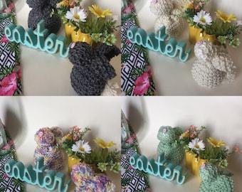 Cute Handmade Knit Bunny Decor