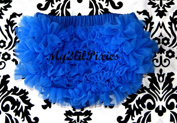 208b34e09 BLOOMERS Royal Blue Ruffled Diaper cover Newborn bloomer