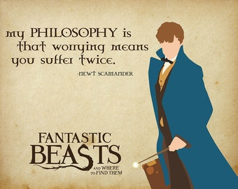 Newt Scamander Fantastic Beasts Wall Art 8.5x11 Printable