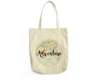 World map decor etsy eco friendly tote bag adventure vintage world map vintage geographical map gumiabroncs Images