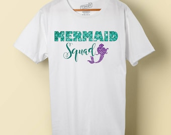 Mermaid Squad, Ariel The Little Mermaid, Digital Download Iron-on Design, Family/Group Vacation Shirts, Mermaid for Life, Squad Goals
