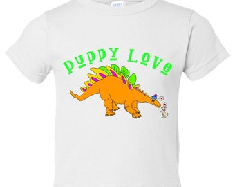 Puppy Love Dinosaur Toddler Tee