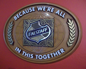 vintage Falstaff beer sign retro Seventies dive bar decor rockabilly kitsch