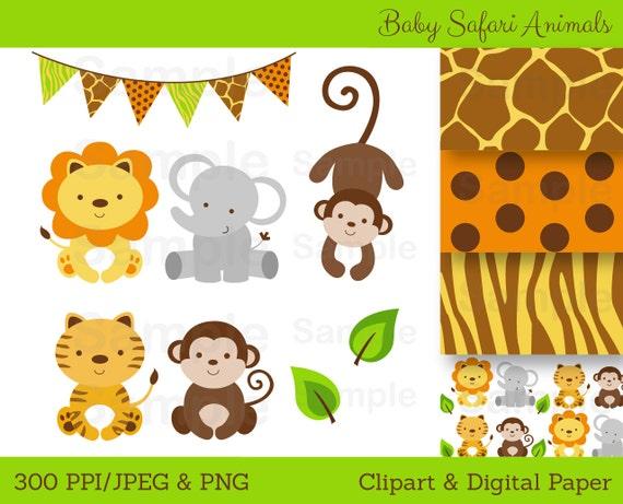cute jungle animal clipart safari animal clipart jungle rh etsy com safari animal clip art free safari animal clip art free