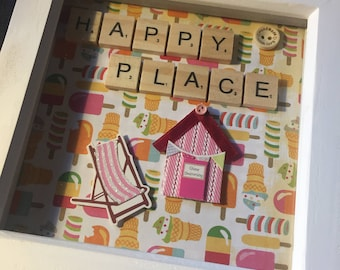 scrabble word frame memory box picture