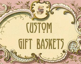 Custom Gift Basket ~ Small Gift Basket ~ Corporate Gifts ~ Holiday Gifts ~ Business Gifts  ~ Gift Basket Service
