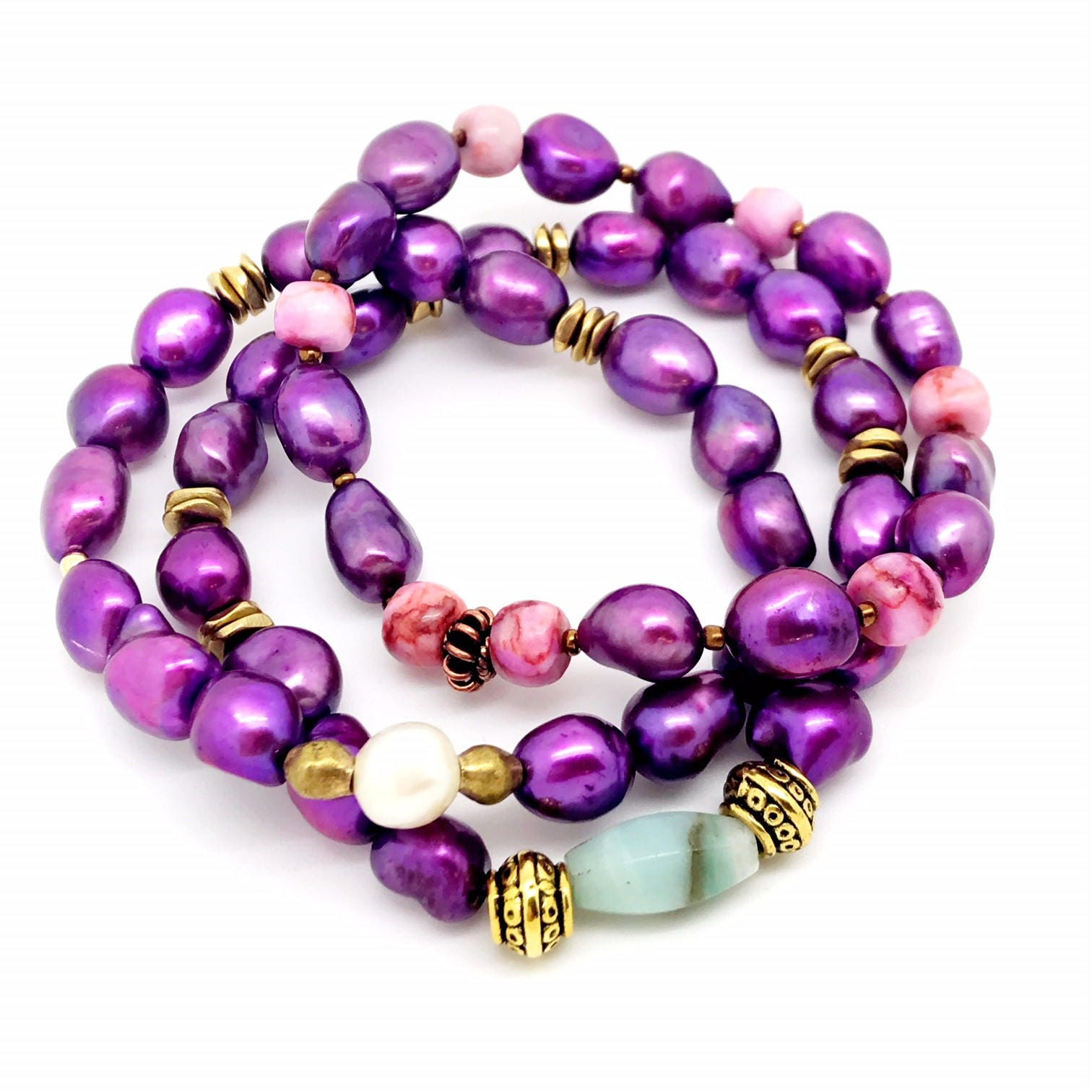 promotional mixed charm pure order style price fashion freshwater natural crystal product bracelet pearl