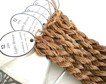 48 skeins Light Brown Embroidery Floss