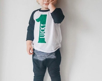 Lucky One First Birthday Shirt - St. Patrick's Day Shirt - Shamrock Shirt - St. Patrick's Day Birthday Outfit - St. Patty's Day Shirt