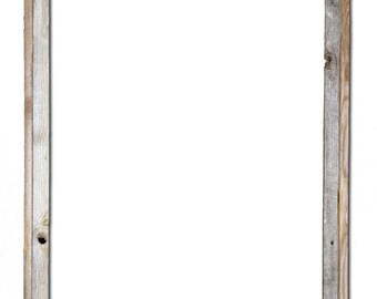 """24x36 –2"""" wide Barnwood Reclaimed Wood Open Frame (No Glass or Back)"""