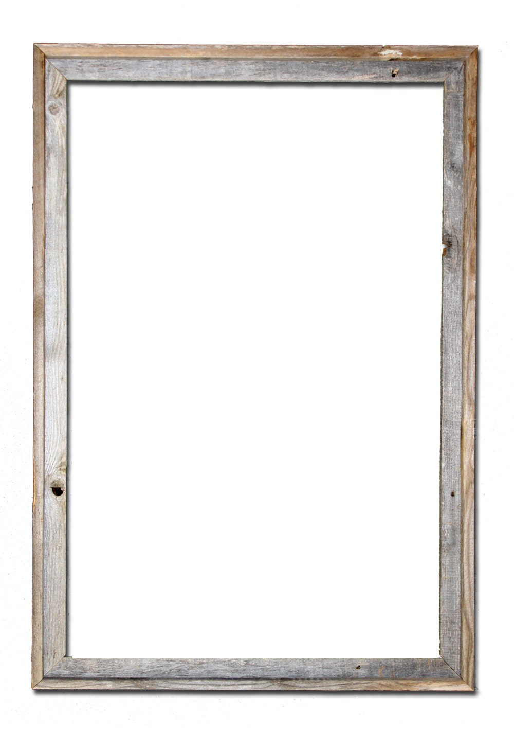 24x36 2 Wide Barnwood Reclaimed Wood Open Frame No