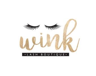 Eyelash Logo, Lash Artist Logo, Lash Logo, Gold Logo, Makeup Artist Logo, Makeup Logo, Beauty Logo, Logo Set, Premade Logo, Logo Design