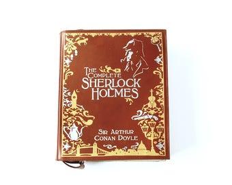 Sherlock Holmes Leather Book Bag Arthur Conan Doyle Book Purse