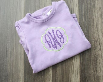 Monogram Baby Bodysuit - Monogrammed Baby Creeper - Monogrammed Child's Outfit - Customized Baby Onesie - Personalized Baby Outfit