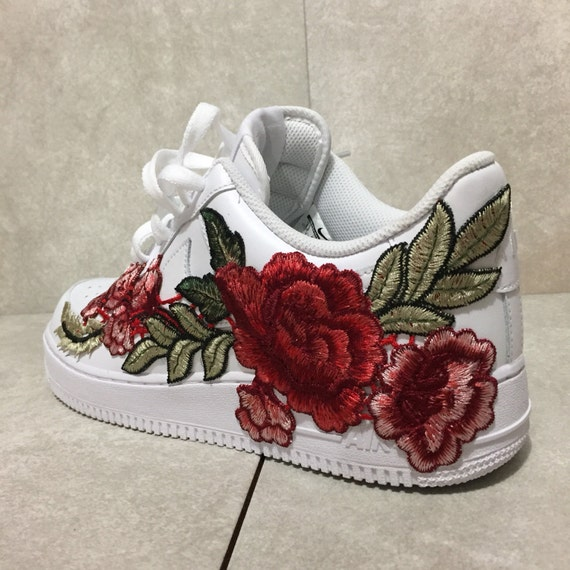 air force 1 with flowers