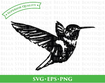 HUMMINGBIRD svg png eps cut file