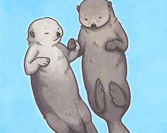 Otterly Wonderful - Small Print - Otter Animal Pun