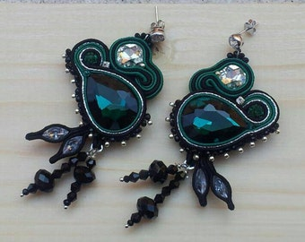 Deep Green Earrings