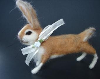 Needle Felted Rabbit, Needle Felted Bunny, Felted Rabbit, Felted Bunny, Easter Bunny, Rabbit, Bunny