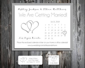 Hearts Wedding Save the Date Cards Invitations