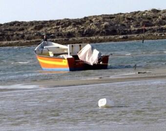 Beach photo. Printable photography. Coastal wall art. Beach photograph. Nautical photography. Boat wall art. Fishing boats. Set of 5.