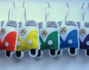 VW Campervan Ornament PDF Sewing Pattern