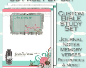 BIBLE Study Planner - Journal and Notes 36 PDF Printables - Prayer Reminders - Study Notes - Reference Pages - Topical Study - Speaker Notes
