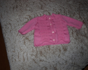 CARDIGAN FOR NEW COTTON IN PINK