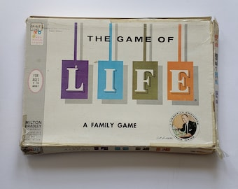 The Game of Life  |  Vintage Milton Bradley Board Game  |  1960 Classic Board Game  |  Family Game Night  |  Family Board Game