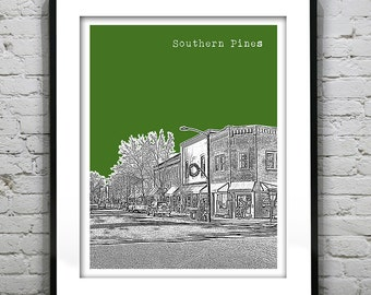 Boone North Carolina Poster Art Print Skyline NC Version 3