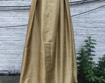 Gold Silk Shantung Ball Gown Skirt
