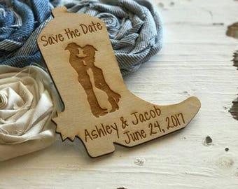 50 Cowboy Boot Wedding Favor magnets, Wedding Favours, Bride and Groom,  Wedding, Country Wedding,  Western Wedding