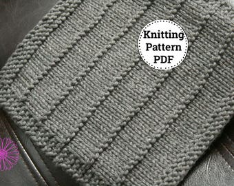 KNITTING PATTERN-Wide Wale, Dishcloth Pattern
