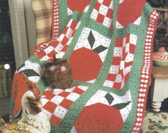 Country Apples ~  Annie's Crochet Afghan Pattern