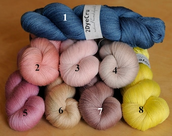 Merino & Silk Laceweight Yarn; Many Colors to Choose