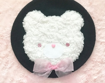 RESERVED FOR BRITT - Fluffy Bear Beret