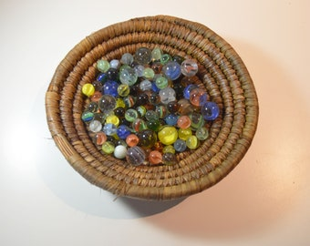 107 Small-Medium and Large Vintage Marbles